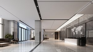 3D office lobby interior