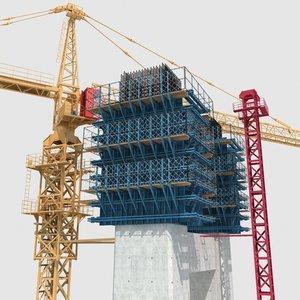 3D bridge construction model