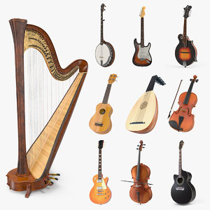 stringed instruments 5 3D model