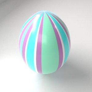 striped easter egg 2 model