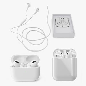 3D apple earpods 2 model