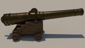 atocha cannon 3D model