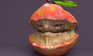 3D character infected apple