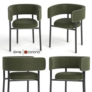 3D font bold armchair