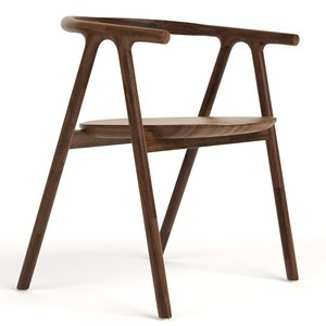 tanaka dining chair industry 3D model