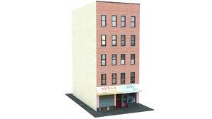 3D chinatown shop building 03