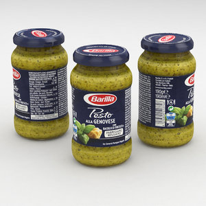 food pesto jar 3D model