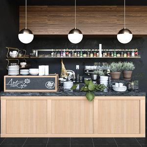 3D cafes model