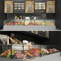 Meat Showcase and Products