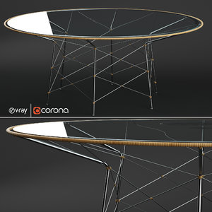 whisk glass dining table 3D model