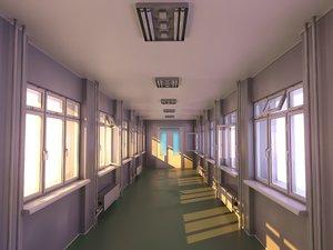 hallway corona 3D