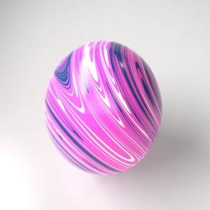 marble easter egg 5 model