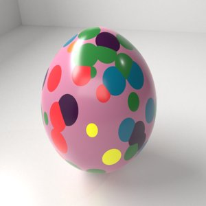 3D polka dot easter egg
