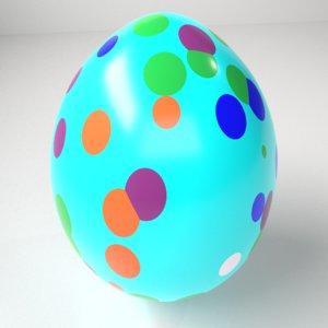 polka dot easter egg 3D model