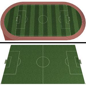 soccer field football stadium 3D model
