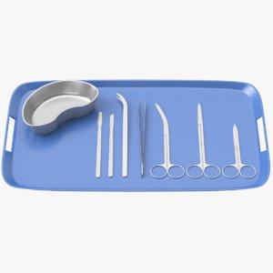 3D surgery tools set