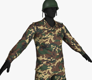 10 army outfit camouflage 3D model