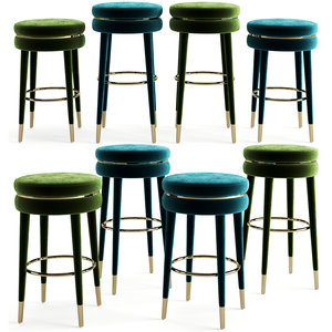 3D model bar counter stool