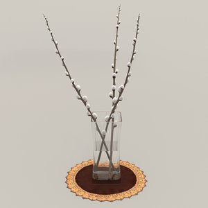 interior exterior willow twigs 3D model