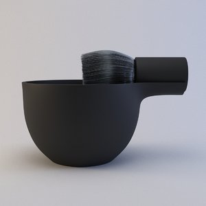 3D brush bowl