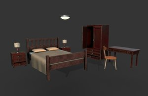 bedroom furniture 3D