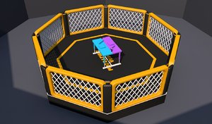arm cage fighting arena model