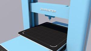 modern printer 3D model