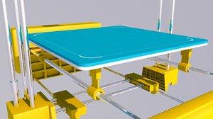 3D model printer print