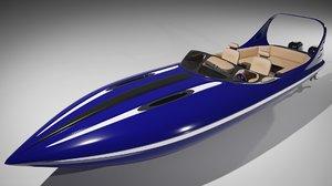 3D boat ship vehicle