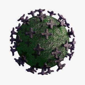 coronavirus virus science 3D