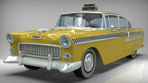 3D taxi yellow cab model