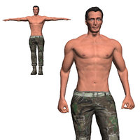 Game Ready Character - Animated Soldier