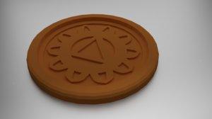 3D coaster manipura solar model