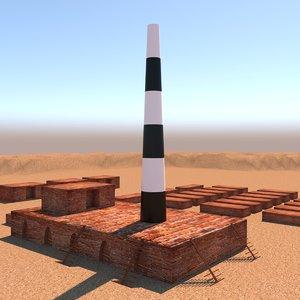 bangladeshi brick kiln 3D model