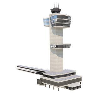 jfk airport control tower 3D model