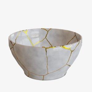 large bowl kintsugi 3D