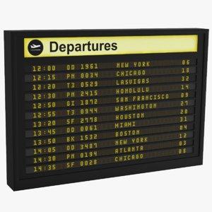 airport board 3D model