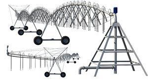 center pivot irrigation 3D model