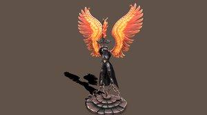 3D model statue archangel