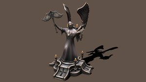 statue preacher 3D