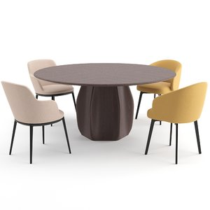 3D model chairs table molteni lema