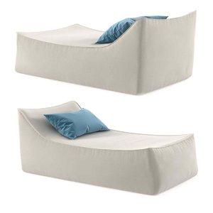 ibiza chaise 3D model