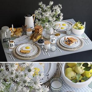 breakfast flowers 3D model