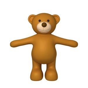 3D teddy bear cartoon model