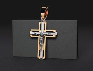 jewellery cross modell printing model