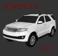 Toyota Fortuner 2012 LowPoly