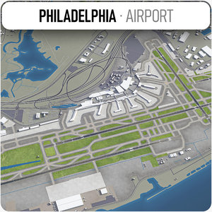 3D philadelphia international airport - model
