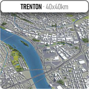 3D trenton surrounding - model