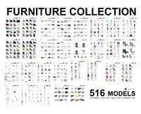 Furniture Collection - 516 Models
