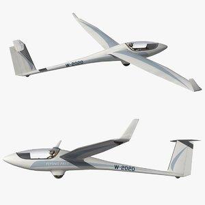 glider flying 3D model